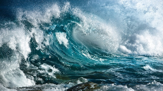 Wild Ocean Surf HD Desktop Background